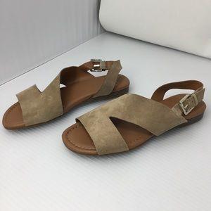 Franco Sarto Garza Suede Slingback Sandals